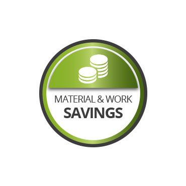 Material and work savings